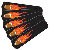 """New HOT FLAMES FOOTBALL SPORTS 52"""" Ceiling Fan BLADES ONLY"""