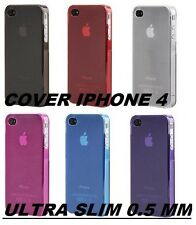 CUSTODIA COVER PER IPHONE 4 4S ULTRA SLIM SOTTILE 0,5 MM TPU FLESSIBILE COLOR