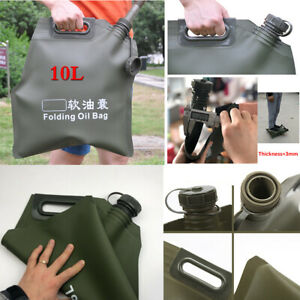 10L Portable Car Auto ATV Gas Fuel Tank Oil Storage Bucket Can Soft Bladder Bag