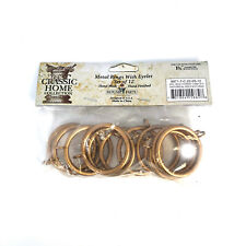 Classic Home Metal Curtain Handmade Home Decor Rings in Antique Gold (Set of 12)