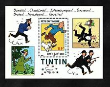Tintin Kuifje Snowy Complete Mint Postage Stamp Sheet  Would  Frame Well As Gift