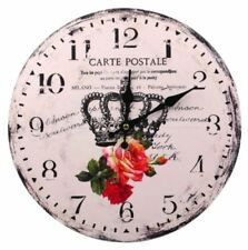 Decorative Fine Wooden Wall Clock (Crown)