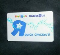 TOYS R US BABIES R US QUICK CHECKOUT 2011 BUSTER GIFTCARD CARD NO VALUE $0