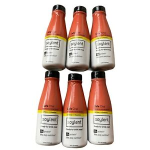 NEW LOT OF 6 Soylent Cafe Chai Plant Protein Meal Replacement Shake 14fl oz EACH