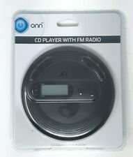 Onn Programmable Portable CD Player With FM Radio and Earphones Free Shipping