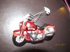 Glass Christmas ornament,motorcicle.