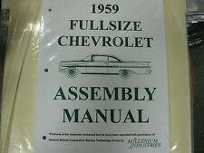 1959 59 FULLSIZE CHEVY & EL CAMINO (ALL MODELS) ASSEMBLY MANUAL