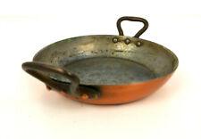 Vintage E.Dehillerin Paris France Copper Skillet Frying Pan 16cm Twin Handles