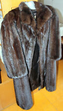MINK FUR COAT - CASA BALCAZAR BARCELONA - WOMAN 110 cm LONG; SLEEVE 47 cm 1980's