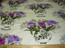 "~BTY~VALLILA~""JOLIE FLORAL""~COTTON BLEND DRAPERY UPHOLSTERY FABRIC FOR LESS~"