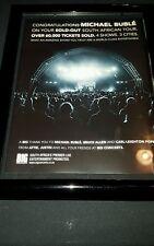 Michael Buble Rare South Africa Concert Tour Original Promo Poster Ad Framed!