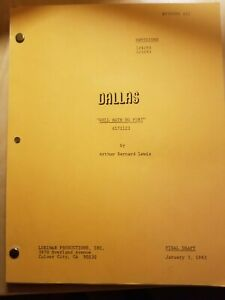 Dallas TV Show script Hell Hath No Fury Final Draft 1983 Lois Chiles Linda Gray