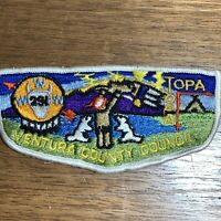 Boy Scouts BSA Badge Patch Flap ORDER OF THE ARROW Ventura County Topa WWW 291