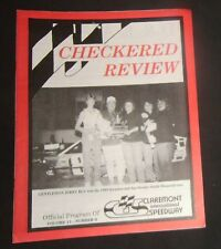 1989 Claremont Speedway Program Jerry Bly