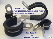 RUBBER LINED P CLIPS STAINLESS STEEL **CHOOSE YOUR SIZE** single clip
