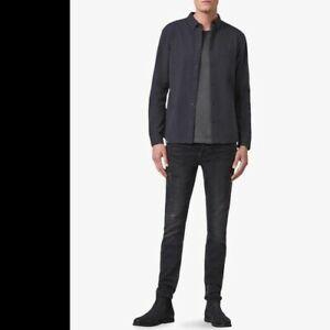 AllSaints Sulzer Shirt Navy Size Medium