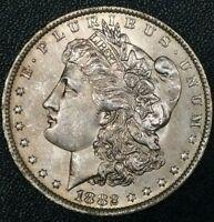 1882 O U.S. Morgan $1 Dollar Early Liberty 90% Silver Nice Brilliant Old Coin