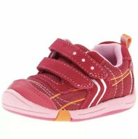 Jumping Jacks Baby Girl Size 4 WW ExtraWide Lazer Sneaker Hot Pink Suede Toddler