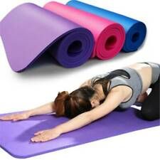 6mm Thick Yoga Mat Exercise Fitness Pilates-Camping Gym Meditation Pad Non-Slip