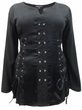 Lace Up Long Sleeve Plus Size Tops & Shirts for Women