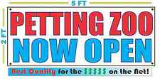 Petting Zoo Now Open Banner Sign New Larger Size Best Quality for the $