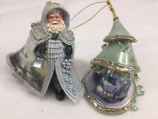 Bradford Exchange Thomas Kincade  Porcelain Bell & Santa Christmas Ornaments #5