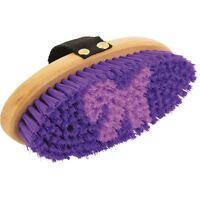 Eldorado Bruza - Púrpura Cepillo de Caballo Cuidado para Utillaje Limpieza