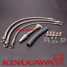 Top Mount Turbo Oil Water Line for Nissan RB20DET RB25DET w/ Kinugawa TD05H TD06