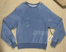NWT Cotton Citizen Blue Faded Look Sweatshirt Women - Size Small - Made in USA