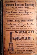1880-1881 Vermont City Directory