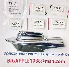 Ronson 1960~1980th Vintage Gas Lighter repair Kit R1-b Free Youtube DIY Video 9