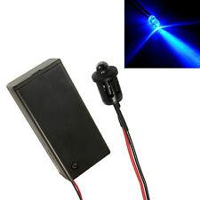 Clignotant Voiture Bleu Serre Remise Faux Alarme LED + Fermée PP3 Support