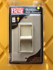 Doit Best Slide Dimmer w/ Locator Light & Wall Plate. #514381, Ivory, Brand New.