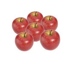 Decorative Artificial Apple Plastic Fruits Imitation Home Decor 6pcs Red F1B8