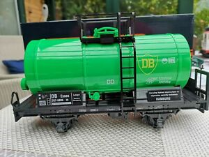 # Für LGB //NEWQIDA  flach Güterwagen,grün neu 4 achser  mit neuem Metall Stapler