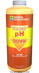 General Hydroponics pH Down 32 oz / 1 Quart -buffer gh adjuster hydroponic
