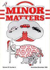 "MORRIS MINOR OWNERS CLUB MAGAZINE - ""MINOR MATTERS"" (November/December 1990)"