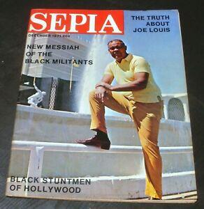 1971 SEPIA  - Boxing Joe Louis 12-71