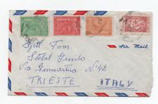 SAUDI ARABIA/ARABIA SAUDITA  2/11/1954 NICE MULTICOLORED COVER TO TRIESTE