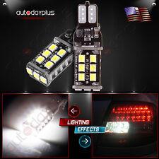 2 x Error Free Super Bright White LED Bulbs For Backup Reverse Light 912 921 T10