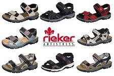 217a3d83c1a654 Damen Trekking Sandalen Rieker Beige Rot Schwarz Blau 68851 Outdoor Sommer