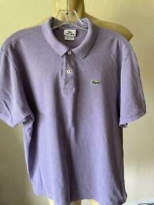 LACOSTE SPORT Men's Purple Short Sleeve Performance Polyester Polo Large  EU 6