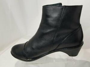 Dansko Women's Black Leather Zip Ankle Fashion Boots Bootie Sz 37 / 6.5 - 7 M