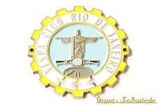 """METALLO-PLACCA """"Vespa Club Rio de Janeiro"""" - 100 pezzi in tutto il mondo! Brasile Brazil"""