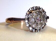 14K Rose Gold Antique Edward Rose Cut Daimond Cluster Ring Size 5