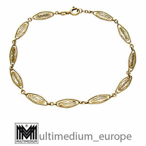 585 Gelbgold Armband Panzerkette 14ct gold bracelet 14k 2,5g 🌺🌺🌺🌺🌺
