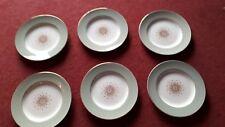 W H Grindley Satin White Tudor Star Staffordshire Ironstone 6 Dinner Plates 26cm