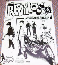 THE REVILLOS STUNNING RECORD COMPANY PROMO POSTER 'MOTORBIKE BEAT' SINGLE 1980