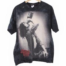 J94 Vintage Liquid Blue Jimmy Page Drinking Graphic Tee Shirt Black Men's Large