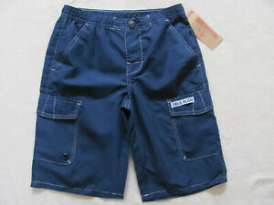 True Religion Cargo Swim Shorts/Trunks- Navy Blue-Little Boy's Size 5 - NWT $49
